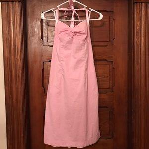 Express Light Pink Halter Dress